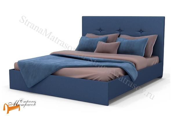 Аскона Кровать Isabella , экокожа, кровать изабелла, кровать Maya Аскона, кровать Мая Аскона, синяя
