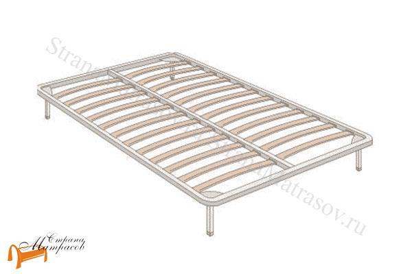 Аскона Основание для кровати металлическое ортопедическое с ножками , не разборое, березовые ламели