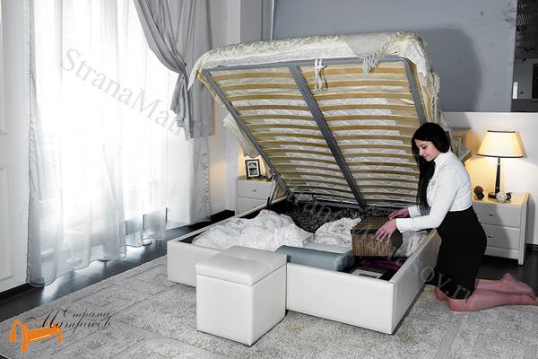 Аскона Кровать двуспальная Grace с подъемным механизмом , ящик, кровать кассандра, кровать Cassandra
