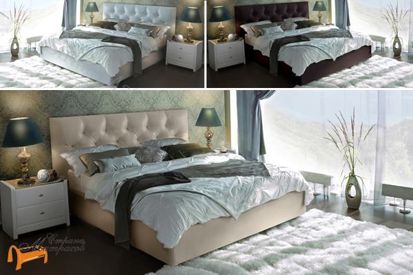 Аскона Кровать Marlena , экокожа, кровать фенди, кровать Fendi, Monica, моника