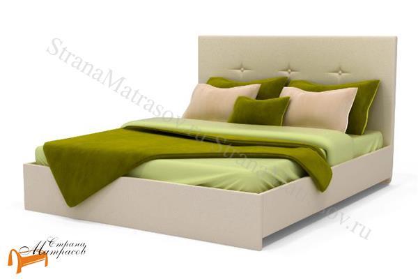 Аскона Кровать Maya с подъемным механизмом , экокожа, кровать изабелла, кровать Maya Аскона, кровать Мая Аскона, белая, кремовая, коричневая, венги