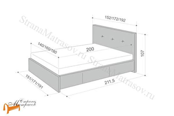 Аскона Кровать Maya , экокожа, кровать изабелла, кровать Maya Аскона, кровать Мая Аскона, белая, кремовая, коричневая, венги