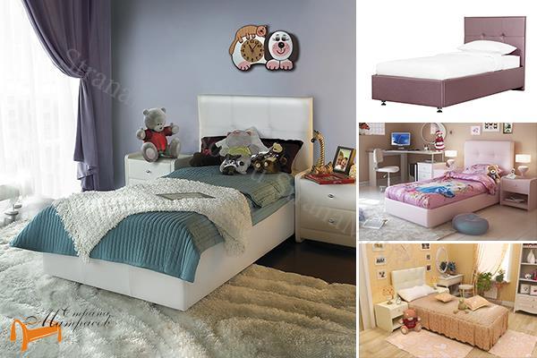 Аскона Кровать Leo , ДВП, березовая фанера, мебельный пенополиуретан, обивка