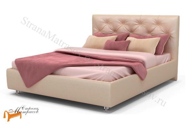 Аскона Кровать двуспальная Marlena , экокожа белая, кровать фенди, кровать Marlena