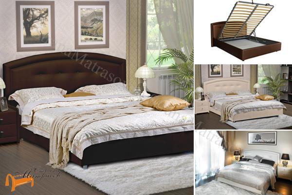 Аскона Кровать двуспальная Grace с подъемным механизмом , экокожа, кровать  грейс, ящик, кровать кассандра, кровать Cassandra