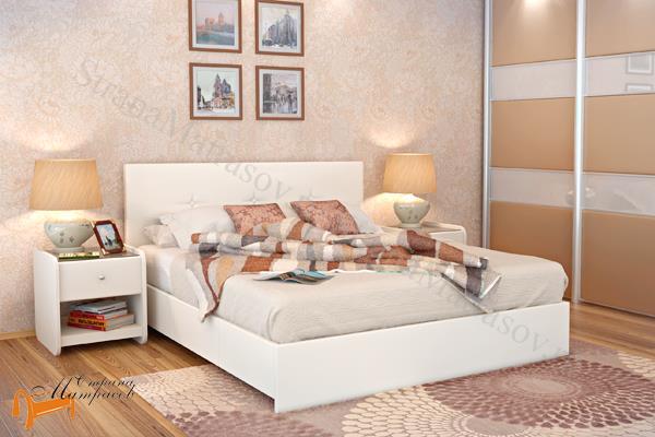 Аскона Кровать двуспальная Isabella с подъемным механизмом , экокожа, кровать изабелла, кровать Maya Аскона, кровать Мая Аскона, белая, кремовая, коричневая, венги