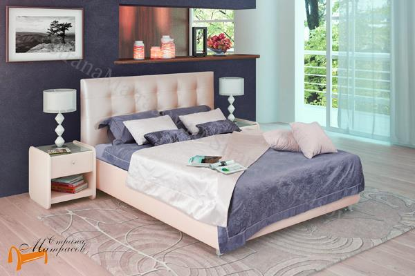 Аскона Кровать двуспальная Amelia с подъемным механизмом , экокожа, кровать Амелия, белая, черная, кремовая, коричневая, красная, серая, золотая