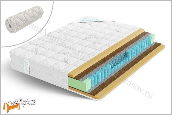Lonax Матрас Memory Medium TFK 550 , пена с эффектом памяти, Memory Foam, независимый пружинный блок, войлок, кокосовая койра