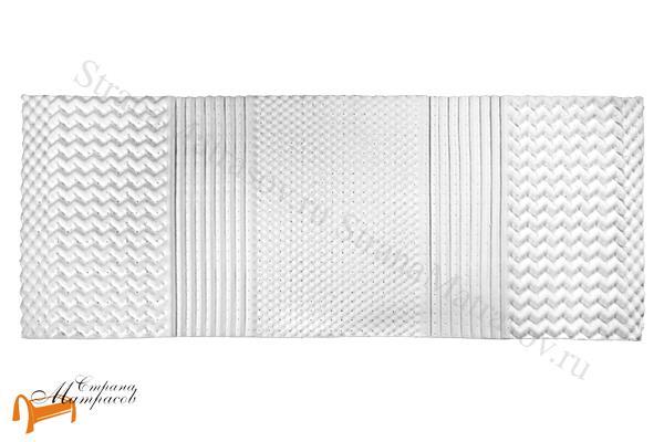 Lonax Наматрасник Organic Ultra Multizone , натуральный латекс, органический хлопок, 7 зон комфорта, 3 слоя, скрутка