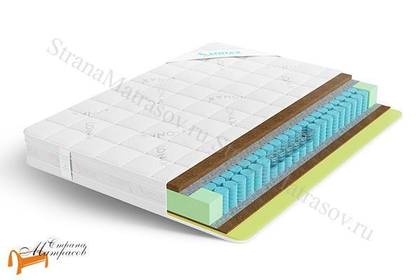 Lonax Матрас Cocos Medium Econom TFK 550 , кокосовая койра, независимый пружинный блок,