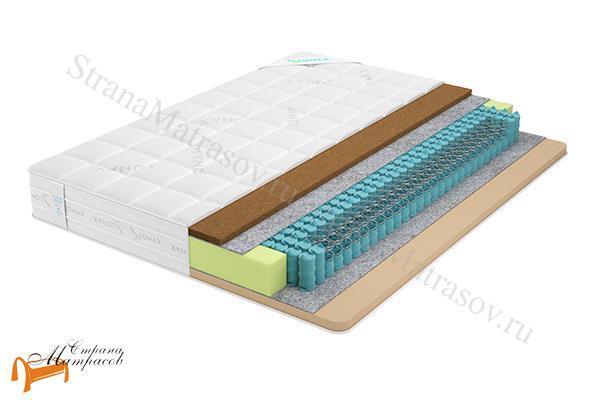 Lonax Матрас Memory Cocos TFK 550 , пена с эффектом памяти, независимый пружинный блок, Memory Foam, жаккард, кокос