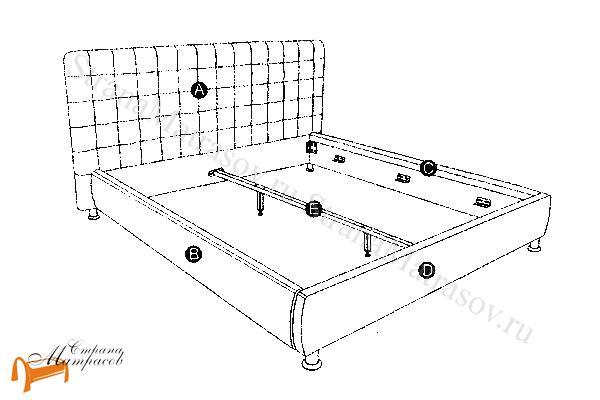 Орматек Кровать двуспальная Corso 3 , корса 3, чертёж, чертеж, чертеж сборки