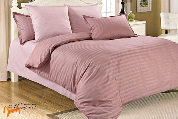 Орматек  Комплект постельного белья Gravity Страйп-сатин Sunrise , 100% хлопок, страйп-сатин ,розовое,  однотонное, белье орматек, гладкое, все размеры