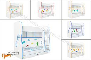 Орматек -  двухъярусная Соната Kids (для мальчиков и девочек) с основанием и ящиками