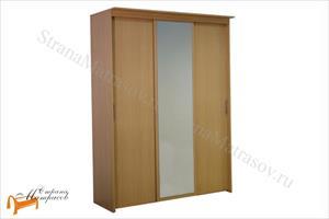 Орматек - Шкаф 3-х дверный - купе Эконом (глубина 450мм) с 1 зеркалом
