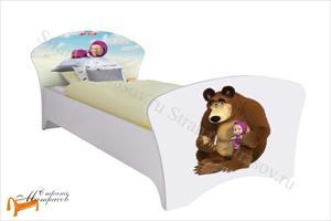 Орматек - детская кровать Маша и Медведь (для девочек) с основанием
