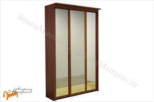 Орматек - Шкаф 3-х дверный - купе Эконом (глубина 450мм) с 3 зеркалами