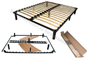 Орматек - Основание для кровати усиленное металлическое разборное с ножками