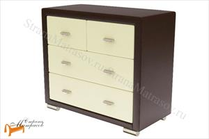 Орматек -  Orma Soft 2 (4 ящика) экокожа со стеклом, РАСПРОДАЖА с экспозиции