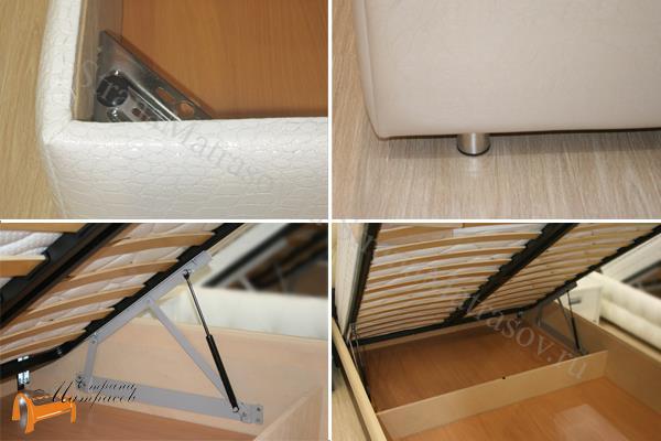 Орматек Кровать Como 6 с подъемным механизмом , экокожа, цвет белый, цвет черный, цвет кремовый, цвет коричневый, цвет бежевый