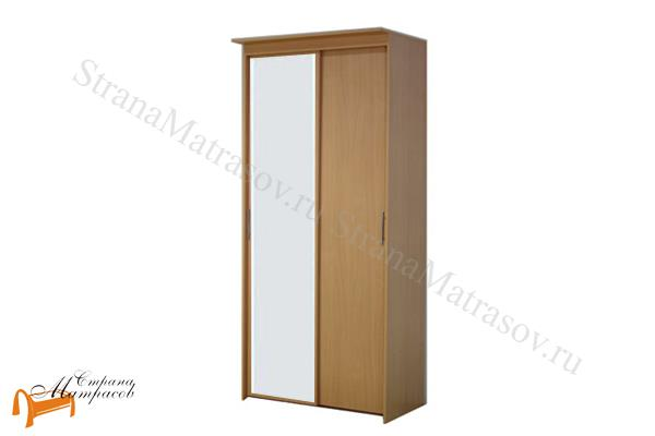 Орматек Шкаф 2-х дверный - купе Эконом (глубина 450мм) с 1 зеркалом  , шкаф 902 мм, лдсп, бавари, ноче гварнери, ноче мария луиза, венги, французский орех, итальянский орех, шамони, белый