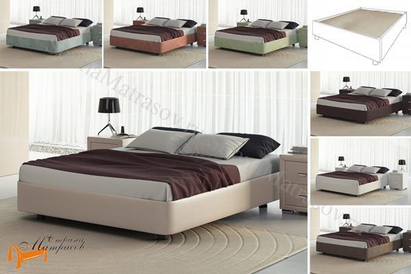 Орматек Кровать Rocky Base с основанием , экокожа, ткань, рогожка, велюр, белая, черная, бежевая, коричневая, кремовая, олива, зеленая, красная, серая