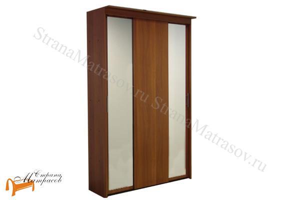 Орматек -  Шкаф-купе Эконом 3-х дверный (глубина 600мм) с 2 зеркалами