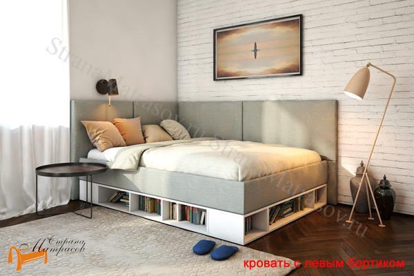 Орматек Кровать Lancaster 1 - тахта с подъемным механизмом , угловая кровать, экокожа, лдсп, ткань, ящик