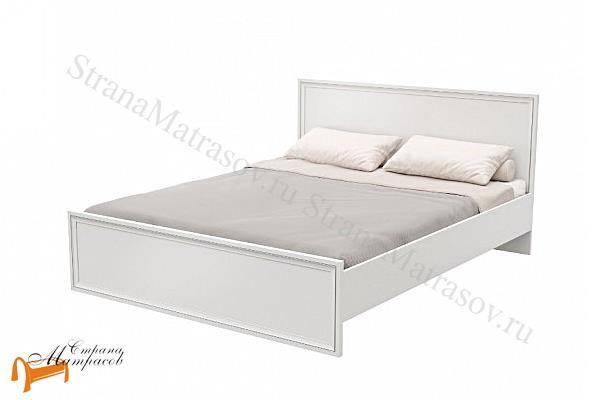 Орматек Кровать Flavia 2 , лдсп, мдв, золотой, ванильный, белый, орех,