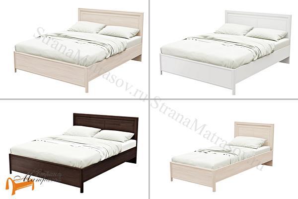 Орматек Кровать Elis , кровать орматек, ЛДСП , ясень шимо, экокожа беллая, венге, кровать без основания