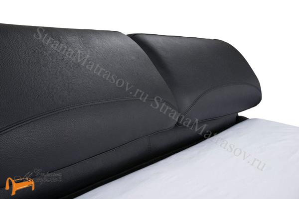 Орматек Кровать двуспальная Лукка , экокожа, черная, бежевая, коричневая, белая, кремовая, ткань, рогожка, олива, серый, лен,