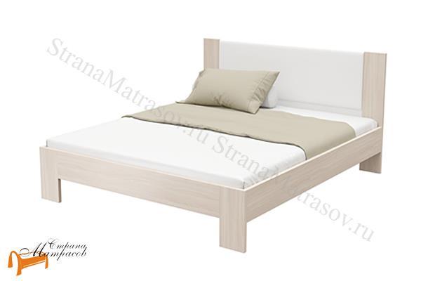 Орматек Кровать Soft 2 с основанием , кровать орматек, ЛДСП , ясень шимо, экокожа беллая, венге, кровать без основания