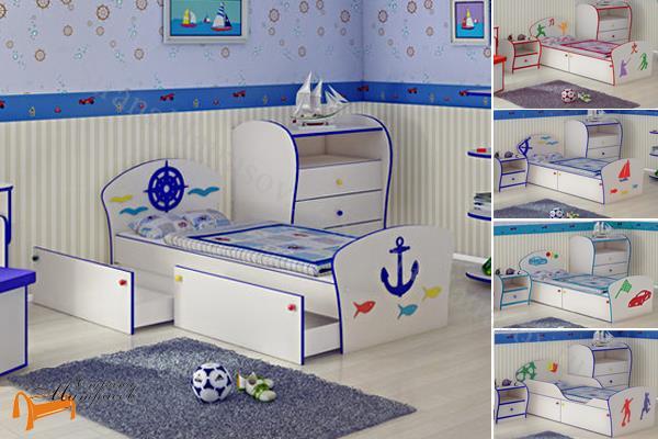 Орматек -  Соната Kids Плюс (для мальчиков) с ящиками и с основанием