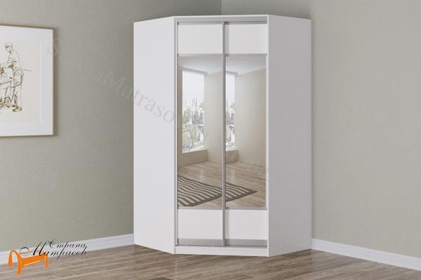 Орматек  Шкаф угловой Como / Veda (экокожа и ЛДСП и зеркало) (глубина 600мм) , шкаф 1215 мм, с зеркалом, Комо,  Веда, экокожа, зеркало,  белый, черный, жемчуг, крокодил