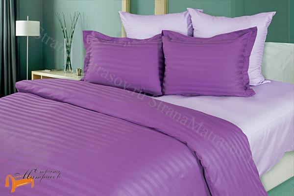Орматек Комплект постельного белья Страйп - сатин Lavender , 100% хлопок, страйп-сатин, коричневое , однотонное, белье орматек, гладкое, все размеры