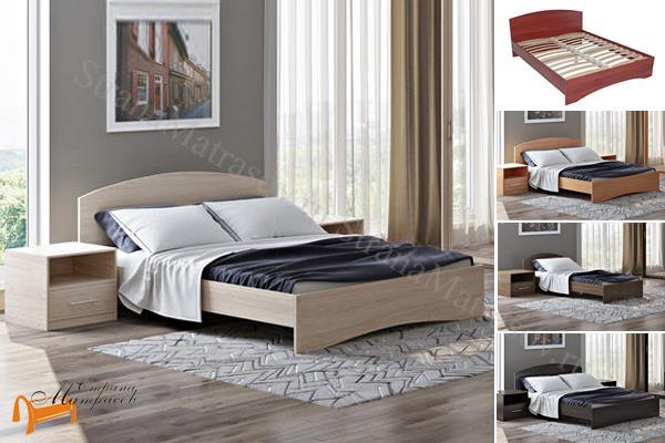 Орматек Кровать Этюд с основанием , лдсп, бавари, ноче гварнери, ноче мария луиза, венги, французский орех, итальянский орех,