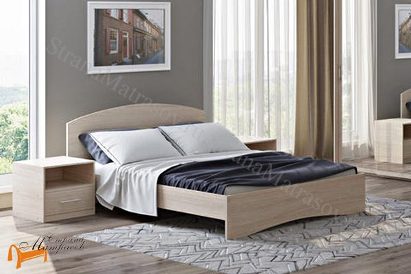 Орматек Кровать Этюд с основанием , лдсп, бавари, ноче гварнери, ноче мария луиза, венги, французский орех, итальянский орех, белый