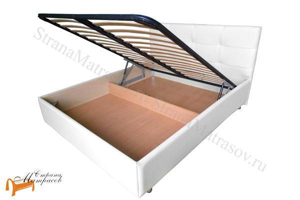 Райтон Кровать Life Box 1 с подъемным механизмом , лайв бокс 1, белая, белый, каркас, коркас, подъёмный механизм, подъемный механизм, экокожа, люкс