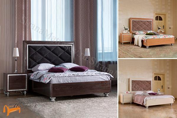 Орматек Кровать Gallery , массив ясеня, велсофт, велюр, для высоких матрасов