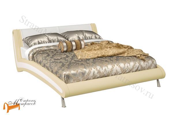 Орматек  двуспальная Corso 2 , экокожа, белый, кремовый, бежевый