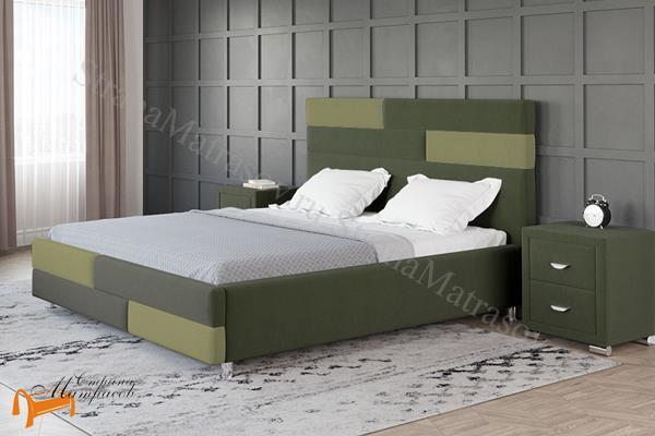 Орматек Кровать Marco , кровать из экокожи, без основания, ткань, раздвижные панели два цвета