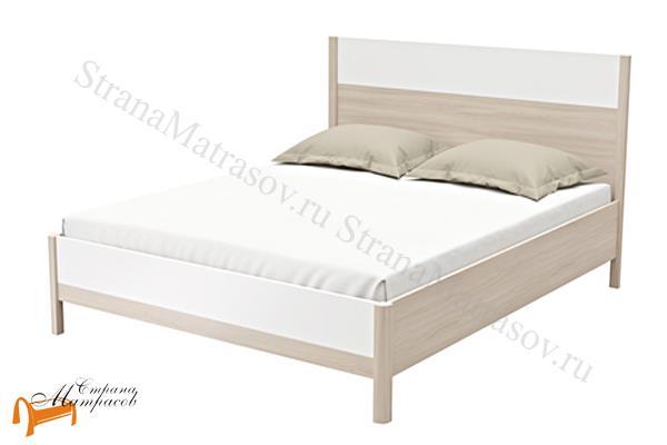 Орматек Кровать Just 2 , кровать орматек, ЛДСП , ясень шимо, экокожа беллая, венге, кровать без основания