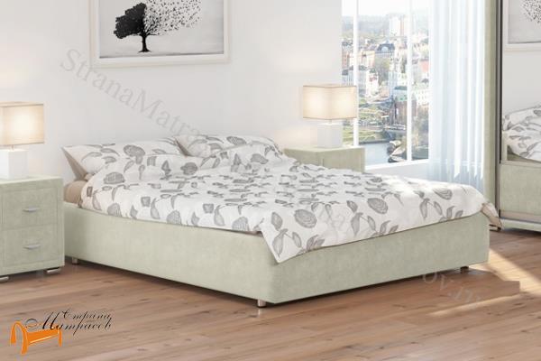 Орматек Кровать Veda 1 Base с основанием , экокожа, без изголовья, цвет белый, цвет кремовый, цвет бежевый, цвет коричневый, цвет черный, цвет золотой, цвет жемчужный, цвет крокодил