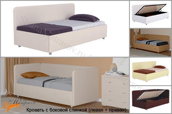 Орматек Кровать тахта - Siesta с подъемным механизмом , угловая кровать, экокожа, рогожка, ткань, ящик, софа, велюр, детская, подростковая, со спинкой, диван