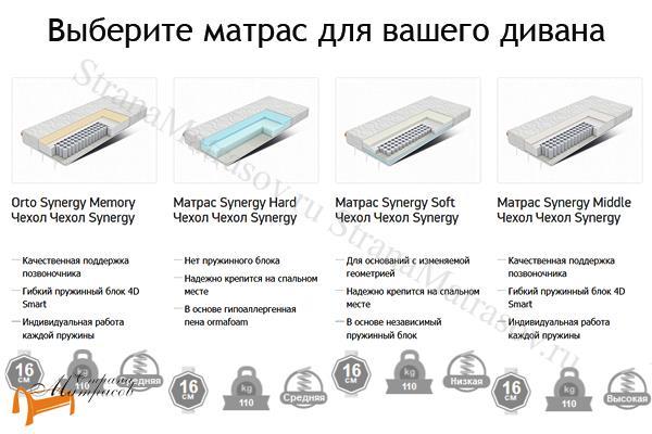 Орматек Диван Synergy Compact (с ортопедическим матрасом) , диван с ортопедическим матрасом