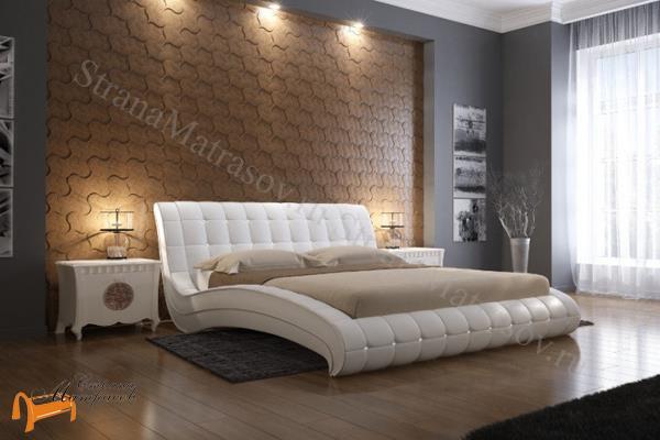 Орматек -  Орматек Кровать Vederi из натуральной кожи