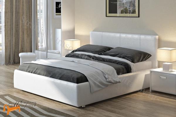 Орматек Кровать Como 3 с боковым подъемным механизмом , экокожа, ткань, рогожка, велюр, золото, олива, белый, чёрный, кремовый, бежевый, коричневый, зеленый, красный, ящик