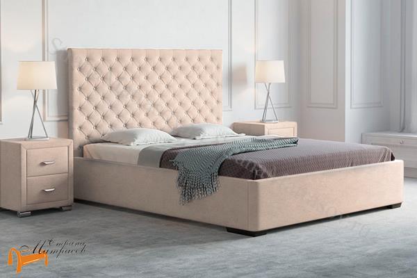 Орматек Кровать двуспальная Modena , экокожа белая, черная кремовая , бежевая, венге, двуспальная кровать, ткань, велюр рогожка