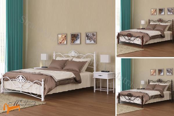 Орматек Кровать Garda 2R с основанием , металл, гарда, дерево гевеи, белый, венги, орех