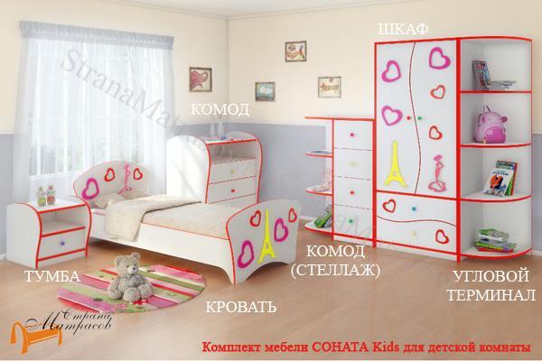 Орматек Шкаф 2-х дверный Соната Kids (для мальчиков и девочек)  (глубина 580 мм) , комплект детской мебели, лдсп, мдф